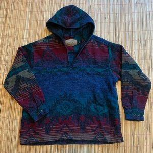 SOLD Vintage Woolrich 100% Wool Navajo Aztec 2X